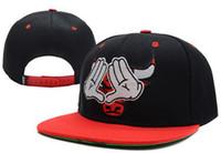 Boy Summer Visor Wholesale - 2014 Bull Flat Snapback Baseball Hip-Hop B-boy Adult Adjustable Sports Cap Hat Free Drop Shipping