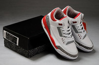Wholesale Top Quality Famous Trainers Retro III Men s Sports Basketball Shoes white fire red black