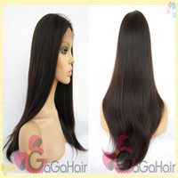 8 Indian Hair Wig,Half Wig 130% High Density 1# Jet Black 10''-24'' Straight Brazilian Virgin Remy Human Hair Glueless Lace Front Wigs Free Shipping Cheap