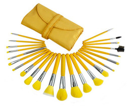 Wholesale Makeup Tools Yellow Professional Brush Sets Cosmetic Accessories Foreign Trade Export