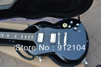Solid Body 6 Strings Mahogany Free shipping to United States G-LP SG Standard black color OEM electric guitar+hardcase