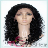 Wholesale Queen Hair Products Lace Front Wigs For African Americans Jet Black Curly Indian Virgin Hair Cheap