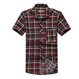 Wholesale Clearance Men s short sleeved shirt short sleeve shirt men s business casual shirt plaid shirt