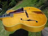 Wholesale New Arrival electric Guitar Johnny Smith Natural Super Inlays Jazzbox Archtop Le Grand
