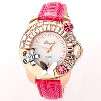 Wholesale Luxury Diamond Rhinestone fashion watches women dresses watch butterfly Flower relojes de colores