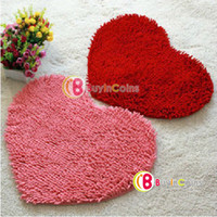 Wholesale 50 X cm Bedroom Floor Love Heart Carpet Kitchen Bath Rug Mat Doormat Room Pad