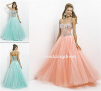 Reference Images Sweetheart Tulle Luxurious Sweetheart Strapless Full Length Long Tulle Prom Dress Blush Lemon Aqua Formal Evening Graduation Dance Ball Gown AQ761