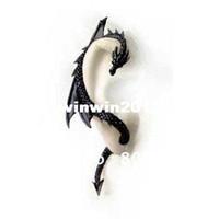 Wholesale Alchemy Gothic Dragon Earring Stud Wrap Black Dragon s Lure Ear Cuff AL604H