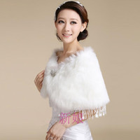 Wholesale 2013 New Bridal Pearl long fur Wedding Fur Wrap Cape Shawl Jackets coat wrap tippet P0005