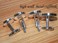 Wholesale 50pcs sterling silver cufflink base cufflink blank cufflink setting choose size mm