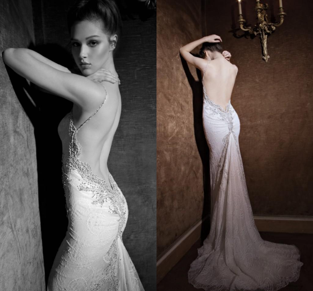 Backless Wedding Dresses 2014 Spaghetti Strap Mermaid ...