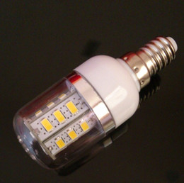 E14 G9 E27 9W 5630 SMD 24 LED Cold White Corn Light Bulb With Cover 85-265V AC