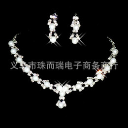 Wholesale Artificial bridal jewelry sets bridal jewellery diamond wedding jewelry set wedding jewellery fashion wedding jewelry accessories