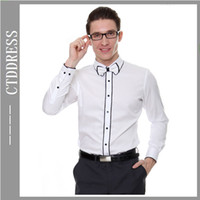 Wholesale White slim fit style fashion mens wear cotton mens dress shirts sh05 Men happiness