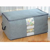 Wholesale Foldable Bamboo Charcoal Fibre Home Storage Bag Box For Clothes Quilt Storage Bag HG