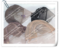 Wholesale Lace Caps Size M L S Brown Color elect Glueless Full lace wig Cap inside inner caps Stretchy net For wig making