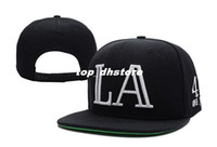 Wholesale NY LA Snapback Black baseball cap hat men and women of the shade summer sun hat cap leisure cap