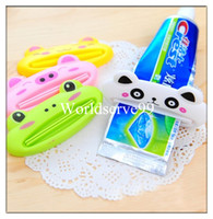 Wholesale Easy Cartoon Toothpaste Dispenser Facial Foam Tube Rolling Holder Squeezer Bathroom Tool Cute