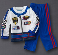 Wholesale 2014 Jumping Beans Boys Sets Long Sleeve Suits Racing Set RETAIL Baby Boys Clothes set Top Quality