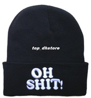Wholesale OH SHIT Beanies hats High Quality Fashion new hats Street Headwear Mens winter knitted caps styles sports hats