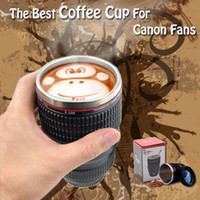 Wholesale Special Present Stainless steel Coffee Cup Best Gift For Canon Fans EF mm Thermos Camera Lens Mug fof Coffee Milk Tea Water