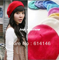 Wholesale Whosale Hi Q Wool Warm Women Beret Beanie Hat Cap Hot