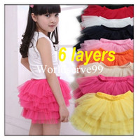 Wholesale Baby Kids Girls Dancewear Tutu Pettiskirt Dress Princess layers Bouffant Skirts Colors
