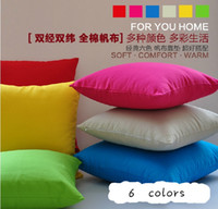 Wholesale Comfortable cheap good quality pillow cases New Candy Dreams Colors Simple Design Micro Suede Pillow Case Cushion Cover