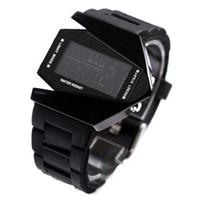 Wholesale S5Q Cool Oversized Waterproof Light Digital Sports Quartz Rubber Wrist Watch Men AAAAUW