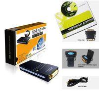 Wholesale S5Q P UGA USB To DVI HDMI VGA Adapter Converter Multi Display Graphics Card AAAALS