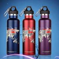 Wholesale In stock In stock New Snailkey stainless steel insulation outdoor sports bicycle bottle ride water bottle large capacity