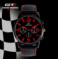 Men's Round 25.5 2014 NEW GT fashion Men Sport Watch Military Watches Japen PC Movement Wristwatch black hand clock Drop Shipping