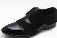 Wholesale free shpping Fashion stylist wedding shoes of men s casual shoes pointed leather shoes