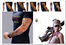 Wholesale Hottest Fashion Temporary Tattoo Sleeve Stretchy Arm Stockings Tattoo Sleeves Fake tattoo Apparel More than Styles