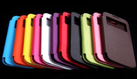 Wholesale Official S View Wake Sleep smart case open window Cover Flip cases for Samsung Galaxy S4 i9500 s DHL EMS