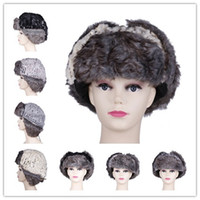 Wholesale Unisex Aviator Bomber Russian Hat Cap Shiny Sheet Metal Pattern Trapper Hat Earflap Colors Optional DKC