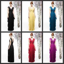2017 bleu peplum robe noire Top Quality 2017 manches Cap Noir Violet Bleu Robes de soirée en mousseline de soie Robes de bal Robe de soirée manches cap Long Robes de demoiselle d'honneur B44 bleu peplum robe noire à vendre