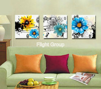 More Panel Oil Painting Abstract Modern Kitchen Wall Decor Modern Panel Canvas Art Mordern Colour Flowers And Washing Paiting OP389