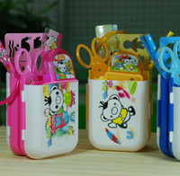 Wholesale School Office Cartoon Stationery Creative Gift Pen pencil Holder Container Box Set For Children Students kids pieces set