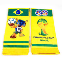 2014 Mascot Armadillo Plush Neckerchief Plush Fabrics Mascot Armadillo, World Cup 145*17cm 2014 Mascot Armadillo Design Plush Neckerchief Yellow Scarf Word Cup Souvenir Gift for Fans 5pcs lot FT022