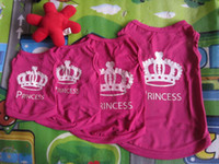 Wholesale 10 pieces Rose Princess small dog cat pet puppy t shirt summer clothes