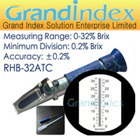 Wholesale Retail hand held brix refractometer RHB ATC Brix to ATC offer years warranty
