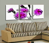 Wholesale Discount Living Room Wall Decor Wall Decor Contemporary Pictures For Kitchen With Purple Oil Paintings OP041