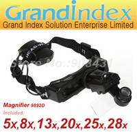 Wholesale LED Head wearing Timepieces Repairing Magnifier D with kinds different magnification