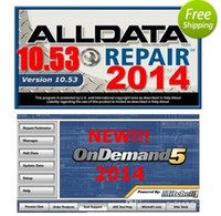 Wholesale 2014 All data v10 Mitchell on demand alldata auto repair software with a GB HDD and yk