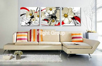 Wholesale Oil Paint Canvas Modele Painting Quality Paintings Abstract Oil Decor With White Flowers OP365
