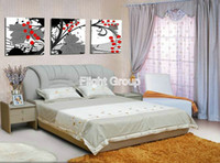 Cheap More Panel Sspen Tree Paintings Best Oil Painting Abstract Wholesale Wall Pictures