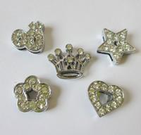 Wholesale pieces Zinc Alloy diy MM mix style Slide charms Fit MM Bracelets Wristband Belt pet Collars