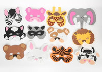 Wholesale 108pc Asst Kids Foam Animal Face Masks Zoo Farm Party Set Kinds Of Animal Birthday Party Supplies O H47