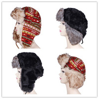 Wholesale High end Unisex Knitting Russian Bomber Aviator Hats Cap Warmer Winter Earflap